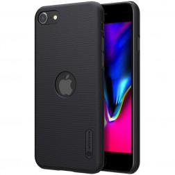 """Nillkin"" Frosted Shield Logo dėklas - juodas (iPhone SE 2020)"