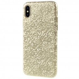 """""""Disco"""" plastikinis dėklas - auksinis (iPhone X / Xs)"""
