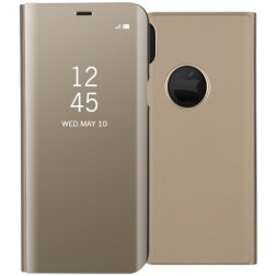Plastikinis atverčiamas dėklas - auksinis (iPhone X)