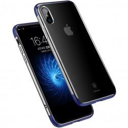"""""""Baseus"""" Armor dėklas - skaidrus, mėlynas (iPhone X / Xs)"""