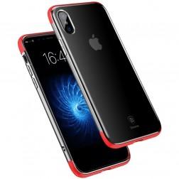 """""""Baseus"""" Armor dėklas - skaidrus, raudonas (iPhone X / Xs)"""