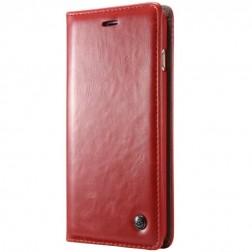 """""""CaseMe"""" solidus atverčiamas dėklas - raudonas (iPhone X)"""