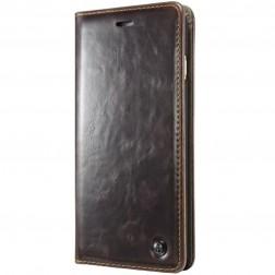"""""""CaseMe"""" solidus atverčiamas dėklas - rudas (iPhone X)"""