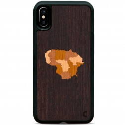"""""""Crafted Cover"""" natūralaus medžio dėklas - Lietuva (iPhone X / Xs)"""