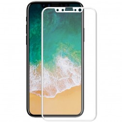 """Hat-Prince"" Tempered Glass apsauginis ekrano stiklas 0.26 mm - baltas (iPhone X)"