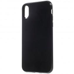 Kieto silikono dėklas - juodas (iPhone X / Xs)
