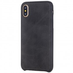 Slim Leather dėklas - juodas (iPhone X / Xs)