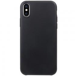 Kieto silikono (TPU) dėklas - juodas (iPhone X / Xs)