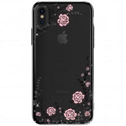 """""""Kavaro"""" Flowers Swarovski dėklas - juodas (iPhone X)"""