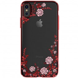 """""""Kavaro"""" Flowers Swarovski dėklas - raudonas (iPhone X)"""