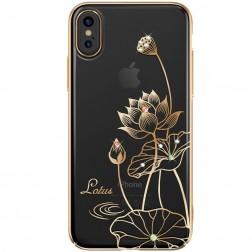 """""""Kingxbar"""" Lotus Swarovski dėklas - auksinis (iPhone X / Xs)"""