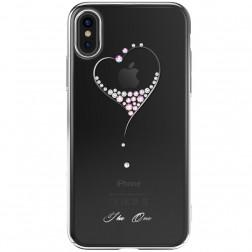 """""""Kingxbar"""" Love Swarovski dėklas - sidabrinis (iPhone X / Xs)"""