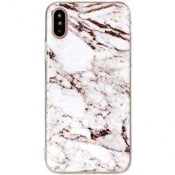 """""""Marble"""" kieto silikono (TPU) dėklas - baltas (iPhone X / Xs)"""