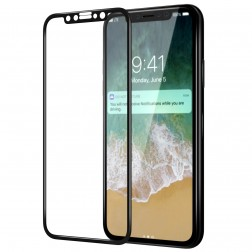 """Nillkin"" CP 9H Tempered Glass apsauginis ekrano stiklas 0.33 mm - juodas (iPhone X / Xs)"