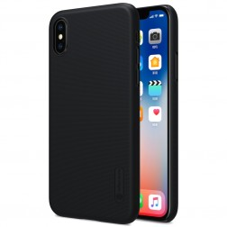 """""""Nillkin"""" Frosted Shield dėklas - juodas + apsauginė ekrano plėvelė (iPhone X / Xs)"""