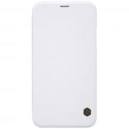 """""""Nillkin"""" Qin atverčiamas dėklas - baltas (iPhone X)"""