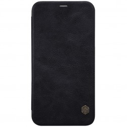 """""""Nillkin"""" Qin atverčiamas dėklas - juodas (iPhone X)"""