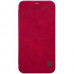 """""""Nillkin"""" Qin atverčiamas dėklas - raudonas (iPhone X)"""