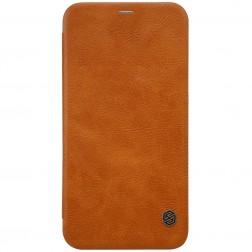 """""""Nillkin"""" Qin atverčiamas dėklas - rudas (iPhone X)"""