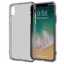 Kieto silikono (TPU) skaidrus dėklas - pilkas (iPhone X / Xs)