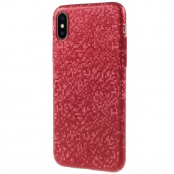 """""""Disco"""" plastikinis dėklas - raudonas (iPhone X / Xs)"""