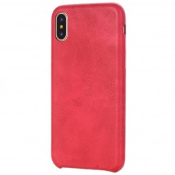 Slim Leather dėklas - raudonas (iPhone X / Xs)