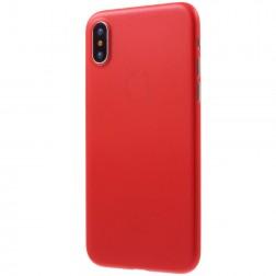 Ploniausias plastikinis dėklas - raudonas (iPhone X / Xs)