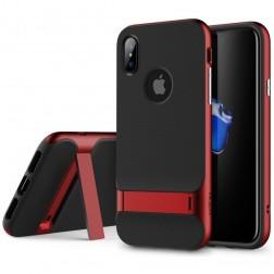 """""""Rock"""" Royce Kickstand dėklas - raudonas (iPhone X)"""