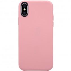 Kieto silikono (TPU) dėklas - šviesiai rožinis (iPhone X / Xs)