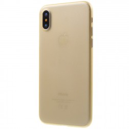 Ploniausias plastikinis dėklas - rudas (iPhone X / Xs)