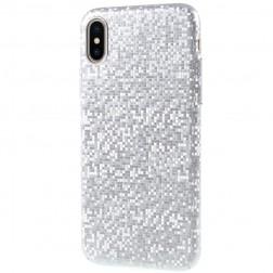"""""""Disco"""" plastikinis dėklas - sidabrinis (iPhone X / Xs)"""