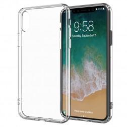 Kieto silikono (TPU) dėklas - skaidrus (iPhone X / Xs)
