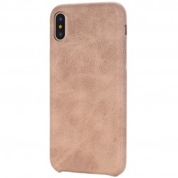Slim Leather dėklas - smėlio spalvos (iPhone X / Xs)