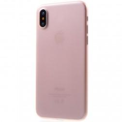 Ploniausias plastikinis dėklas - šviesiai rožinis (iPhone X / Xs)