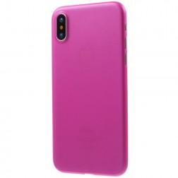 Ploniausias plastikinis dėklas - tamsiai rožinis (iPhone X / Xs)