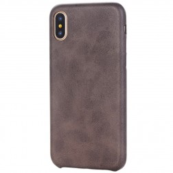 Slim Leather dėklas - tamsiai rudas (iPhone X / Xs)
