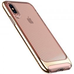 """""""Usams"""" Senior skaidrus dėklas - auksinis (iPhone X)"""