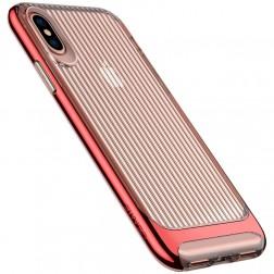 """""""Usams"""" Senior skaidrus dėklas - raudonas (iPhone X / Xs)"""