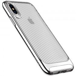 """""""Usams"""" Senior skaidrus dėklas - sidabrinis (iPhone X / Xs)"""