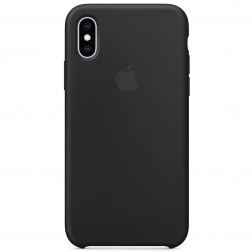 "Oficialus ""Apple"" Silicone Case dėklas - juodas (iPhone X / Xs)"