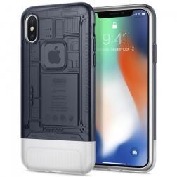 """""""Spigen"""" Classic C1 sustiprintos apsaugos dėklas - pilkas (iPhone X / Xs)"""