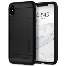 """""""Spigen"""" Slim Armor CS dėklas - juodas (iPhone X / Xs)"""