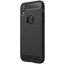"""Carbon"" kieto silikono (TPU) dėklas - (iPhone Xr)"
