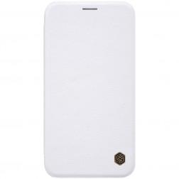 """""""Nillkin"""" Qin atverčiamas dėklas - baltas (iPhone Xr)"""