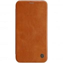 """""""Nillkin"""" Qin atverčiamas dėklas - rudas (iPhone Xr)"""