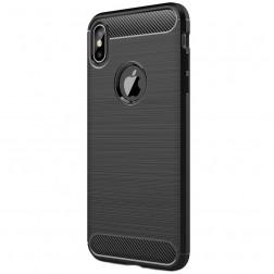 """""""Carbon"""" kieto silikono (TPU) dėklas - (iPhone Xs Max)"""