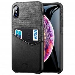 """""""ESR"""" Metro dėklas su kišenėle - juodas / pilkas (iPhone Xs Max)"""