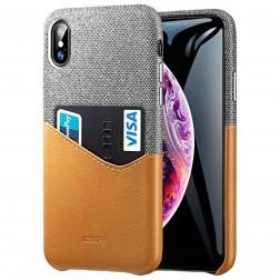 """""""ESR"""" Metro dėklas su kišenėle - rudas / pilkas (iPhone Xs Max)"""