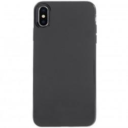 Kieto silikono dėklas - juodas (iPhone Xs Max)