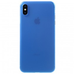 Ploniausias plastikinis dėklas - mėlynas (iPhone Xs Max)